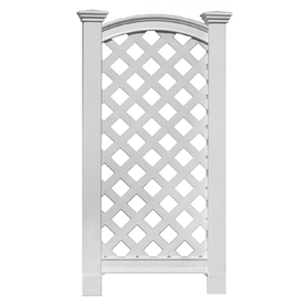 New England Arbors 27-in W x 56-in H White Vinyl Trellis