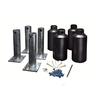 New England Arbors Black Steel Mounting System