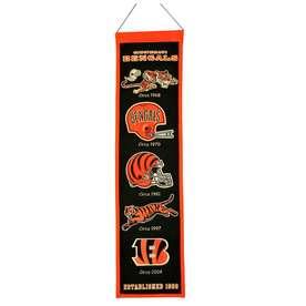 Winning Streak 0.66-ft W x 2.66-ft H Embroidered Cincinnati Bengals Banner