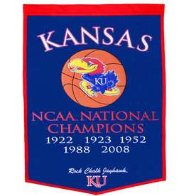 Winning Streak 38-in x 24-in Kansas Jayhawks Banner