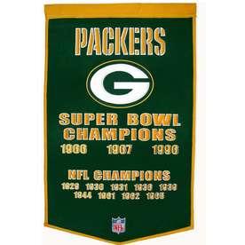 Winning Streak 38-in x 24-in Green Bay Packers Banner