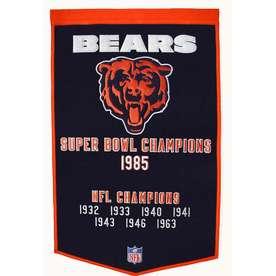 Winning Streak 38-in x 24-in Chicago Bears Banner