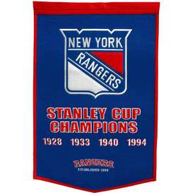 Winning Streak 38-in x 24-in New York Rangers Banner