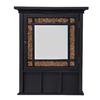 Elegant Home Fashions 20-in Dark Surface Mount Medicine Cabinet