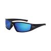 CrossFire Hardline Safety Glass Matte Black Frame, HD Blue Mirror Polarized Lens