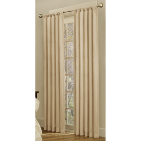 allen + roth Beaufort 84-in L Solid Tan Rod Pocket Curtain Panel