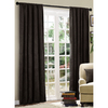 Style Selections 84-in L Chocolate Basketweave Curtain Panel