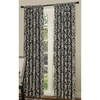 allen + roth Bristol 84-in L Room Darkening Black Rod Pocket Window Curtain Panel