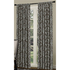 allen + roth 84-in L Blue/Chocolate Bristol Curtain Panel