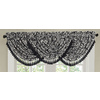 allen + roth Bristol 20-in Black and White Polyester Rod Pocket Valance