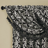allen + roth 20-in L Black and White Bristol Tailored Valance