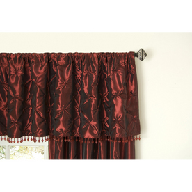 allen + roth Belleville 20-in Wine Polyester Rod Pocket Valance