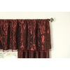 allen + roth 20-in L Wine Belleville Tailored Valance