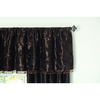 allen + roth 20-in L Chocolate Belleville Valance Tailored Valance