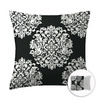 Style Selections 16-in W x 16-in L Black Square Accent Pillow Cover
