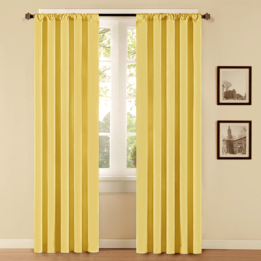 Yellow Curtain Panels Car Interior Design