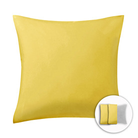 Style Selections 16-in W x 16-in L Yellow Square Indoor Decorative Pillow
