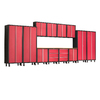 NewAge Products Bold 224-in W x 72-in H Red Steel Garage Storage System