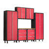 NewAge Products Bold 112-in W x 72-in H Red Steel Garage Storage System