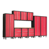NewAge Products Bold 168-in W x 72-in H Red Steel Garage Storage System