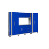 NewAge Products Performance 108-in W x 77.25-in H Blue Doors and A Matte Silver Frame Steel Garage Storage System