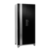 NewAge Products Performance Plus 36-in W x 84-in H x 24-in D High-Gloss Black Doors and a High-Gloss Silver Frame Steel Full Storage Lockers