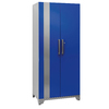 NewAge Products Performance Plus 36-in W x 84-in H x 24-in D High-Gloss Blue Doors and a High-Gloss Silver Frame Steel Full Storage Lockers