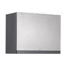 NewAge Products Performance Plus Diamond Plate 28-in W x 22-in H x 14-in D Steel Wall-Mount Garage Cabinet