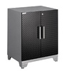 NewAge Products Performance Plus Diamond Plate 28-in W x 36-in H x 22-in D Steel Freestanding or Wall-Mount Garage Cabinet