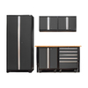 NewAge Products Pro 3.0 102-in W x 85.25-in H Jet Black Frames with Charcoal Gray Doors Steel Garage Storage System