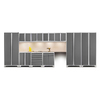 NewAge Products Pro 3.0 220-in W x 85.25-in H Bright White Frames with Platinum Gray Doors Steel Garage Storage System