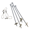 ShelterLogic Gray Steel Storage Shed Anchor Kit