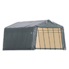 ShelterLogic Metal Single Car Garage Building (Common: 13-ft x 24-ft; Actual: 13-ft x 24-ft)