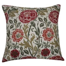 allen + roth 18-in W x 18-in L Red/Green Reversible Square Indoor Decorative Pillow Cover