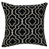 allen + roth 18-in W x 18-in L Black/White Reversible Square Indoor Decorative Pillow Cover