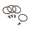 allen + roth 10-Pack Sienna-Bronze Curtain Rings