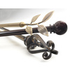 Style Selections 28-in to 48-in Aged-Bronze Single Curtain Rod