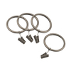 allen + roth 10-Pack Pewter Clip Rings