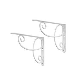 Real Organized Steel 9-in x 6-1/2-in White Decorative Shelf Bracket