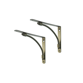 Style Selections 9-in x 6-1/2-in Prussian Gold Decorative Shelf Bracket