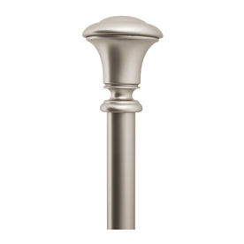 allen + roth 72-in to 144-in Brushed Nickel Metal Single Curtain Rod
