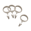 allen + roth 7-Pack Brushed Nickel Clip Rings