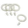 allen + roth 7-Pack White Wood Curtain Rod Clip Rings