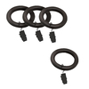 allen + roth 7-Pack Walnut Wood Curtain Rod Clip Rings