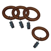 allen + roth 7-Pack Mahogany Wood Curtain Rod Clip Rings