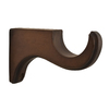 allen + roth 2-Pack Mahogany Wood Curtain Rod Brackets