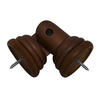 allen + roth Mahogany Wood Curtain Rod Corner Connector