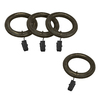 allen + roth 7-Pack Venetian Gold Wood Curtain Rod Clip Rings