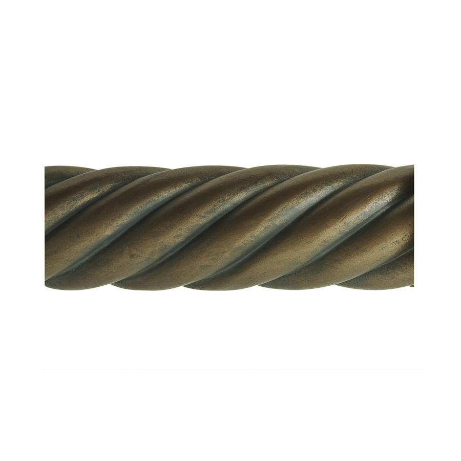 shop allen roth 96 in specialty brass drapery wood