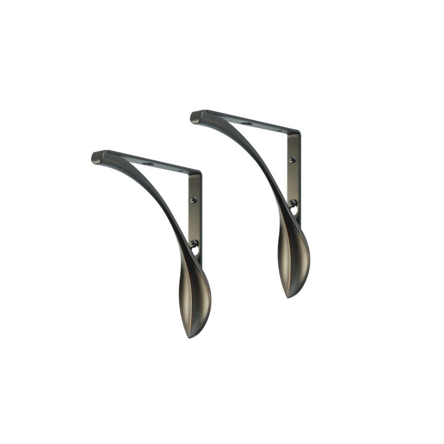 in x 5 1 2 in oil bronze decorative shelf bracket at